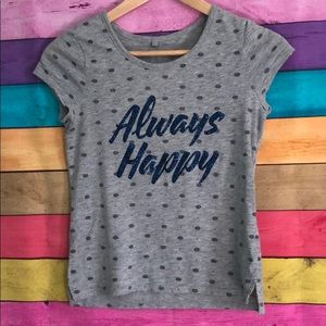 Justice 12 girls Always Happy quote shirt